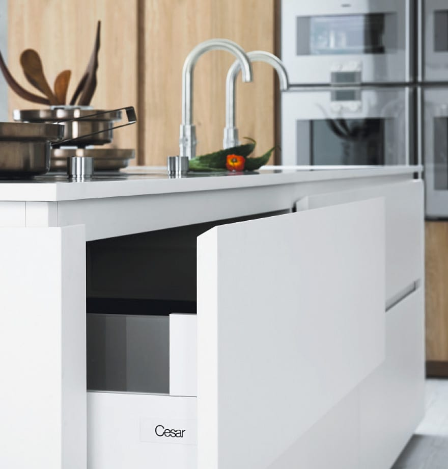 Cesar's flush drawer configuration is fuss free and safety conscious