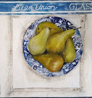 Pears, Spode and Lace by Janet Cleghorn