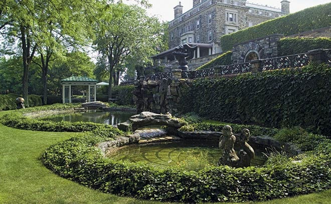 Kykuit, Tarrytown, New York: glamour and opulence at the Swimming Pool Terrace, where many Rockefeller children learned to swim.