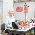 Catriona Pretsell Seamstress at Designworks in Glasgow.