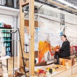 Naomi Robertson, master weaver and tapestry studio manager at Dovecot Studios in Edinburgh, a converted swimming baths on Infirmary Street.