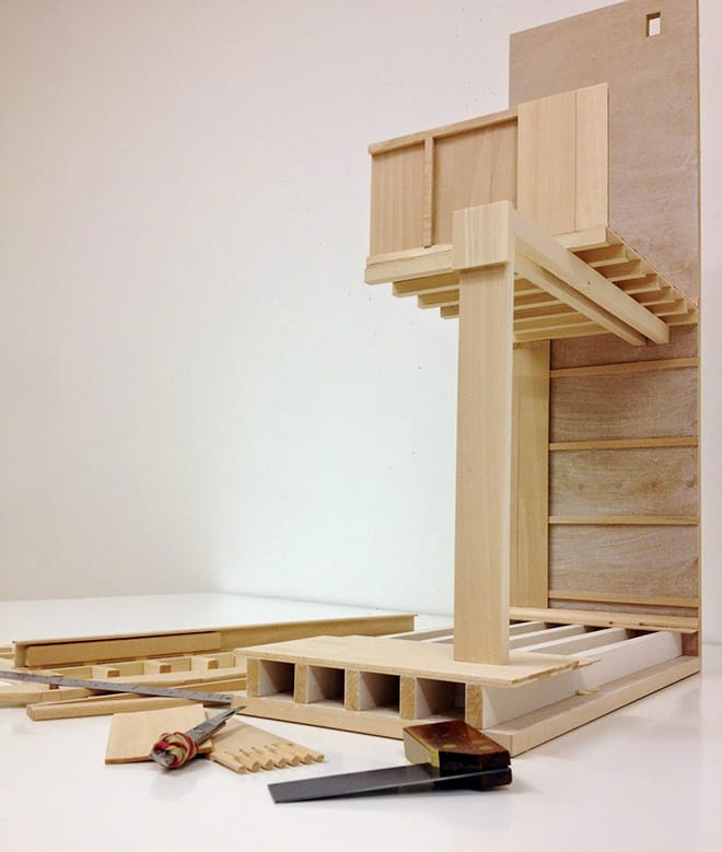 01 _ Model of library bay under constrcution