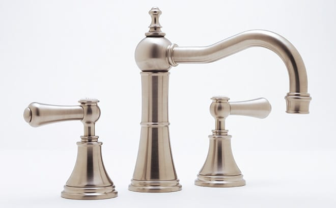 3 Hole basin mixer tap with Country Spout, Perrin & Rowe