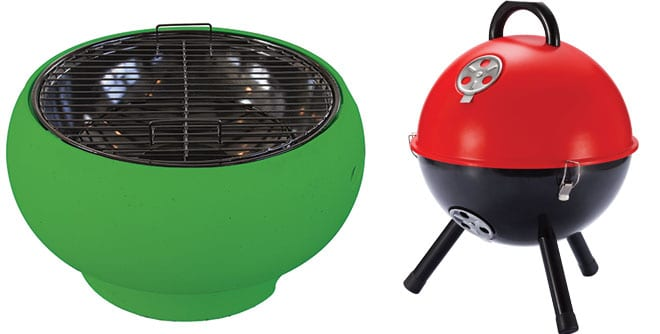 Supagrill tabletop pod BBQ in Lime Green, White Stores. Picknickgrill, Design3000