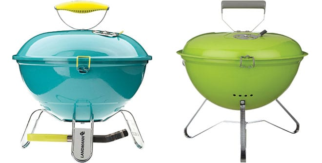 Piccolino portable BBQ in Turquoise, Garden Oasis. Charcoal portable kettle barbecue, House by John Lewis