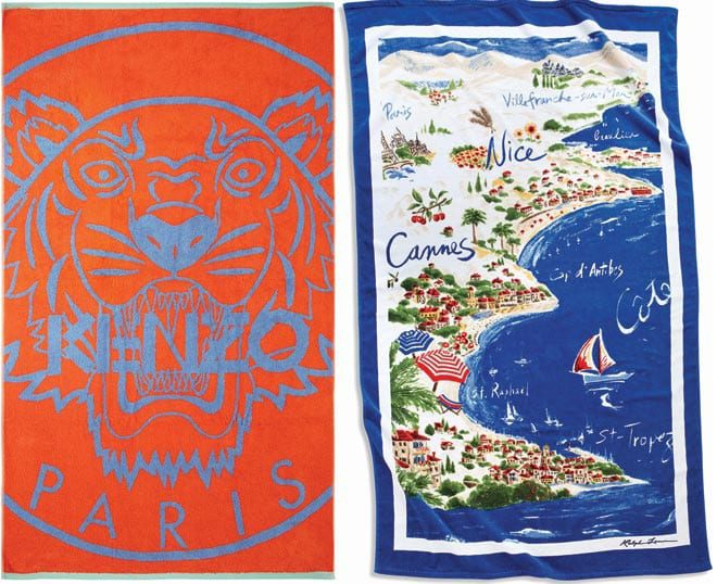 Beach towels from Kenzo and Ralph Lauren Home