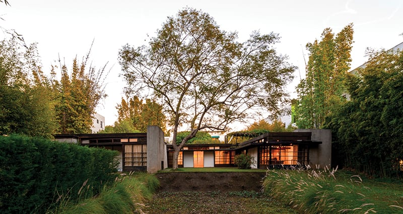 The Schindler House in West Hollywood, Los Angeles, was designed in 1921 by Rudolf M. Schindler