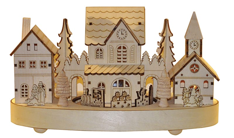 Wooden house with moving train, £21.60, Roman at Home