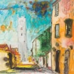 Open Eye John Bellany, Italian Street Scene 2008, watercolour