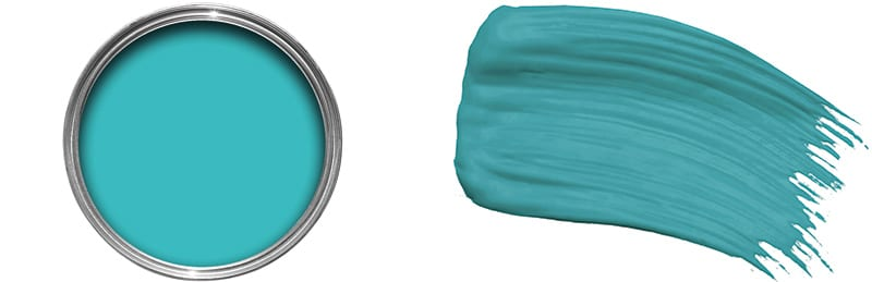 Atoll, £13.94, Colours at B&Q  and Blue Kale, £23, Paint by Conran