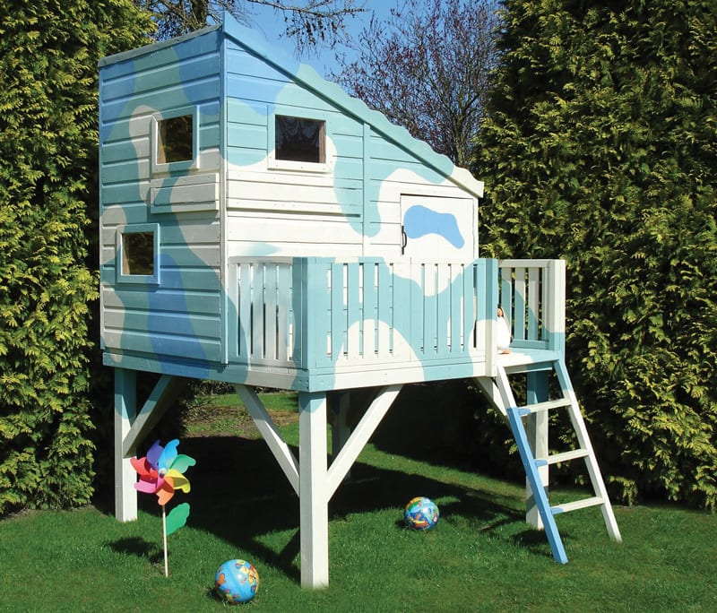 For those who need to be on the lookout for incoming parents, the Command Post from B&Q offers the ideal vantage point. Made from pine planks, the playhouse comes unpainted so you can get creative with the design. £487.