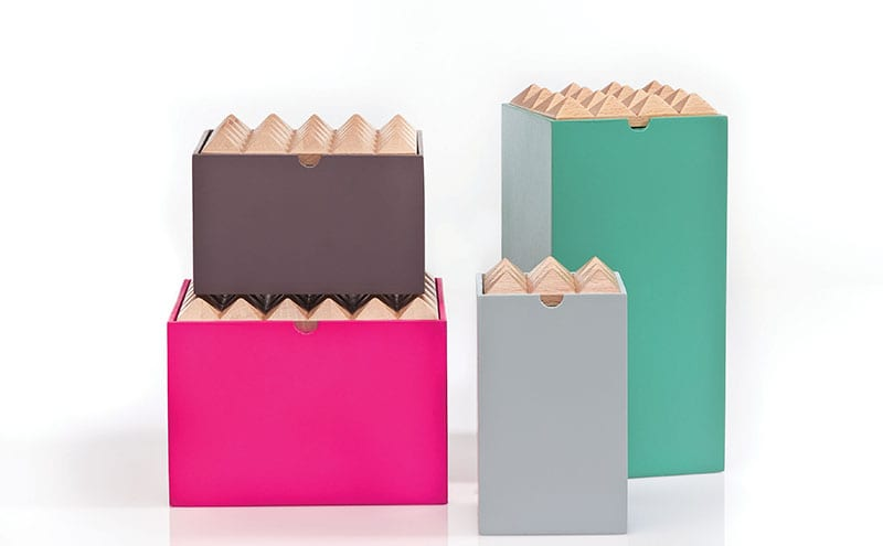 Pyramid boxes by Korridor Design offer cool storage options