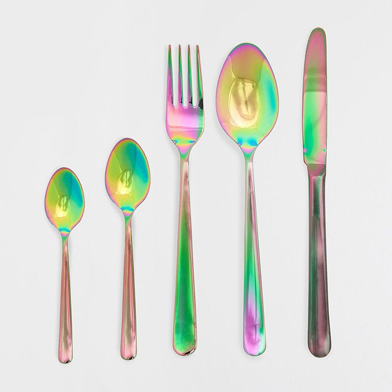 Colour-effect steel cutlery, from £4.99, Zara Home