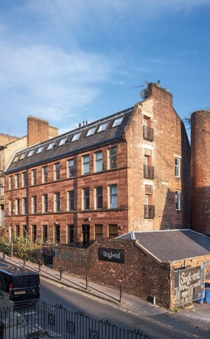 The workshop in Renfrew Street is based in an old print factory that is shared by the Singl-end café.