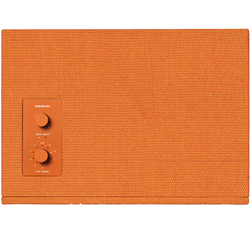 PUMP UP THE VOLUME Urbanears turns up the heat with its Baggen speaker in the zesty Goldfish Orange