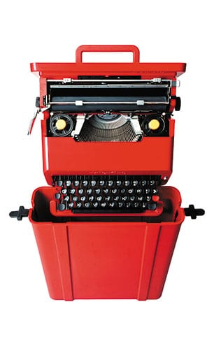 The famous Valentine portable typewriter Sottsass designed with Perry A. King for Olivetti in 1969.
