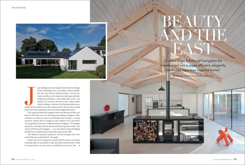 EAST MEETS EAST What was a 1960s Edinburgh bungalow is now a striking Japanese-inspired home