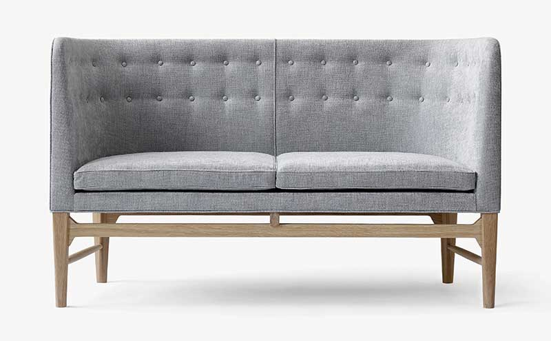 The new smaller Mayor sofa, the AJ6, in maple wood