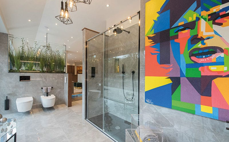 The showroom has a wealth of beautiful bathroom layouts that use the latest products and technology