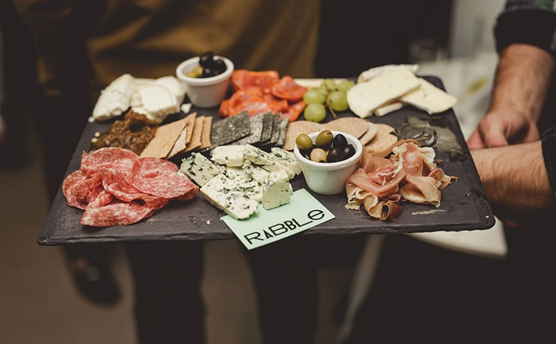 Generous charcuterie boards came courtesy of Rabble