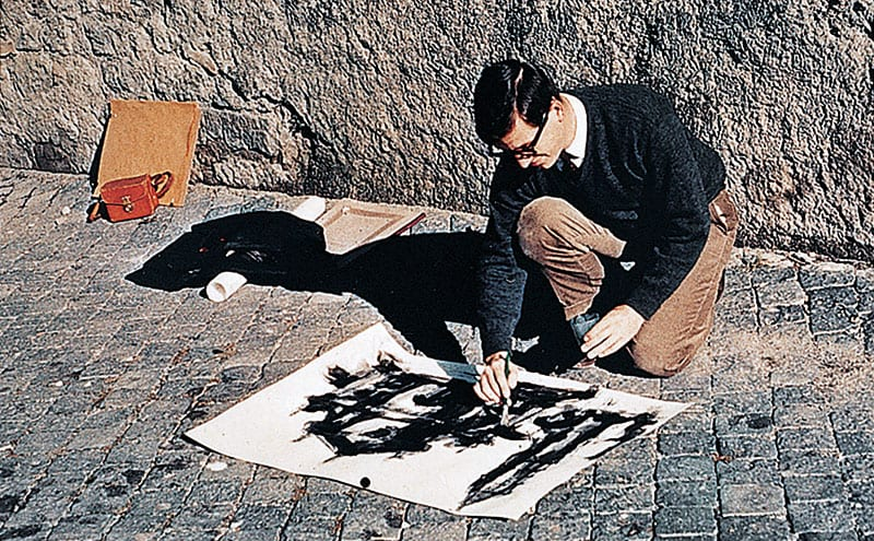 Michael Graves drawing on the streets of Rome. He won a scholarship and spent two years there in the early 1960s.