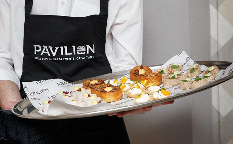 Mouthwatering canapés courtesy of the Pavilion Glenrothes