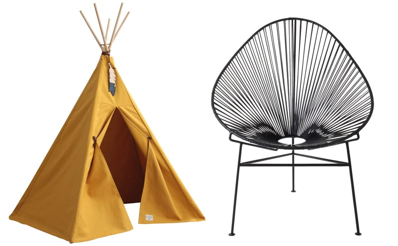 Kids news: The Nevada Tipi, p161; Garden living: Fresh air chairs, p234