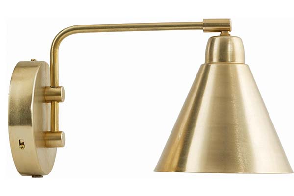 Game wall lamp in brass, £110, House Doctor