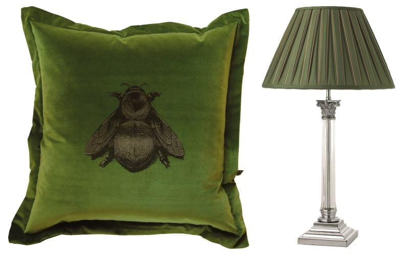 Pillow and lamp