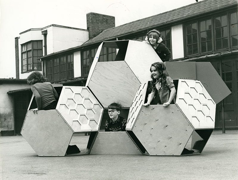 Victor J. Papanek, Tetrakaidecahedral moveable playground structure, 1973-75