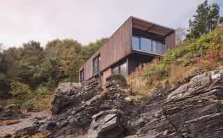 The house embedded in the rock