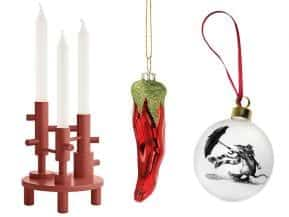 Candlestick and two decorations