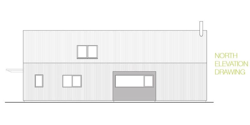 North elevation drawing