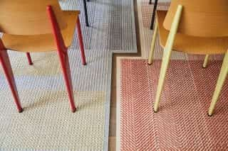 chairs on rug