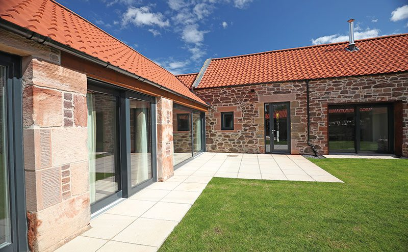 A number of new openings had to be made to bring in light and to act as entrances. These have been lined in corten steel