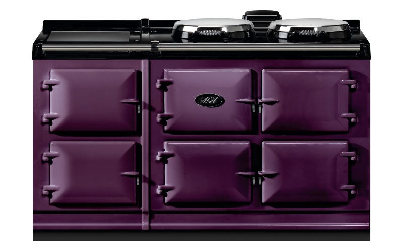 5-oven Dual Control in aubergine, from £12,785, AGA