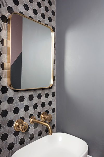 The Eurica Missoni-inspired en-suite tiles came from Bellegrove Ceramics