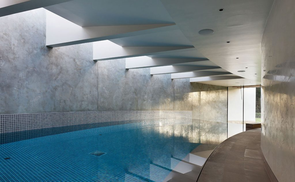 The leisure suite, including an infinity-edged swimming pool
