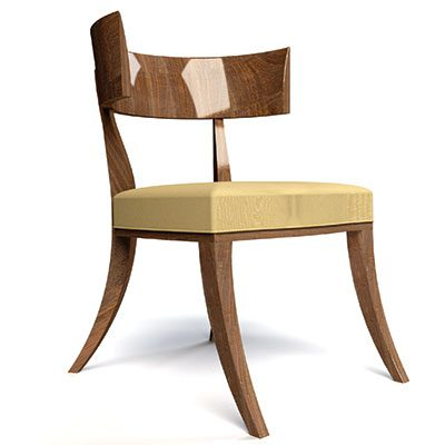 This is his Klismos chair, based on an Ancient Greek design
