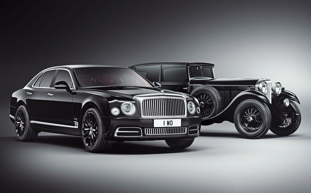 Old and new side by side: Bentley's limited-edition Mulsanne and its inspiration, W.O.'s own 8-litre model