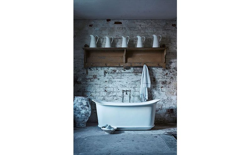 Bath by Catchpole & Rye in rustic bathroom