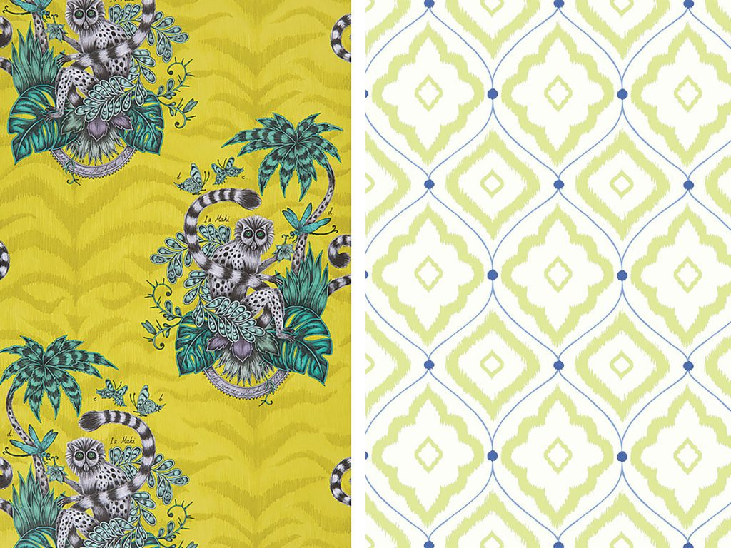 two-lime-wallpapers-from-Clarke-and-Clarke-Thibaut
