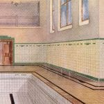 A-rendering-of-a-1920s-swimming-pool-taken-from-a-Craven-Dunnill-&-Co-brochure