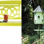 yellow-bench-and-painted-bird-house