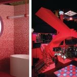 red-bathroom-and-v&a-exhibition