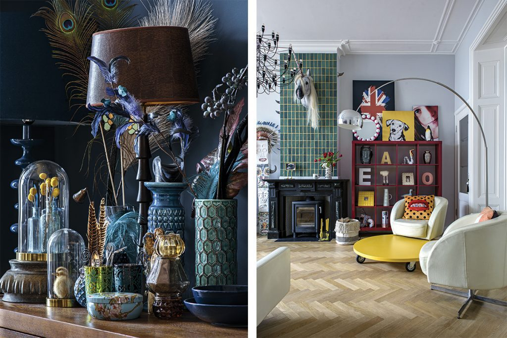 colourful-living-room-and-shelf-with-navy-objets