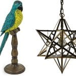 parrot-on-perch-decoration-and-star-pendant-light