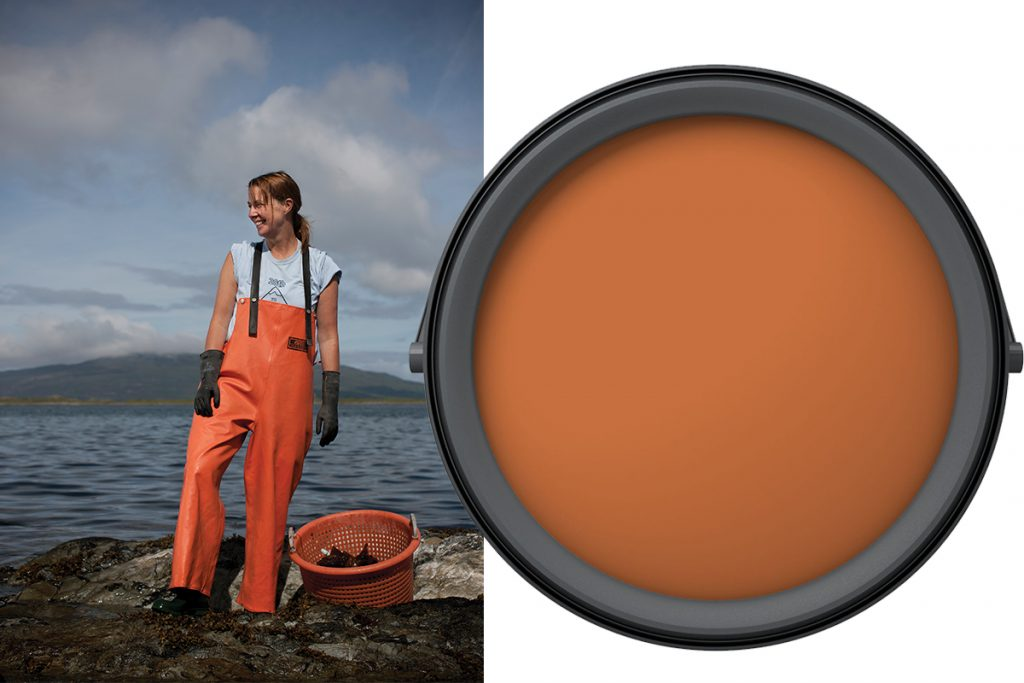 woman-in-waders-and-orange-paint