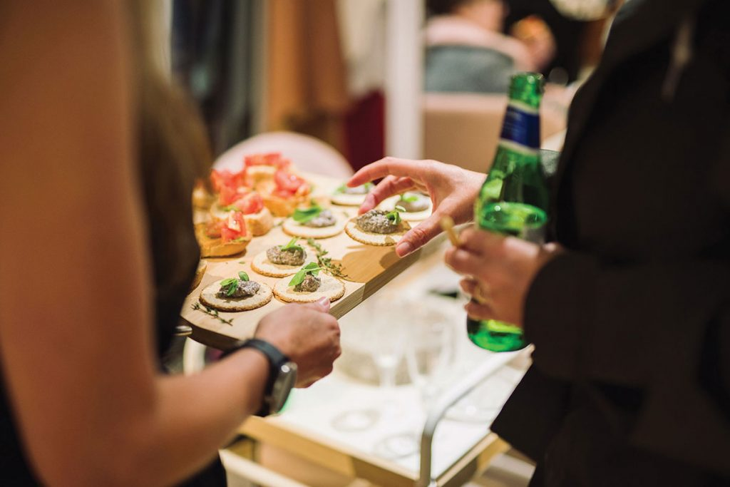 canapes-served-on-a-wooden-board