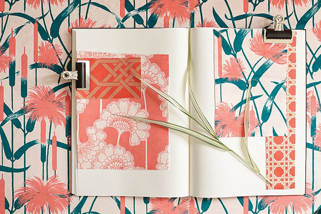 Florence-Broadhurst-MOOD-BOARD_CORAL-AND-GREEN